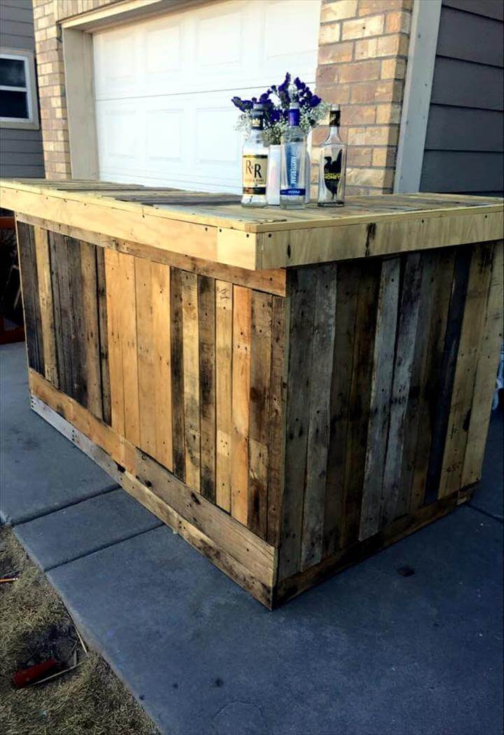 DIY Pallet Outdoor Bar 101 Pallets