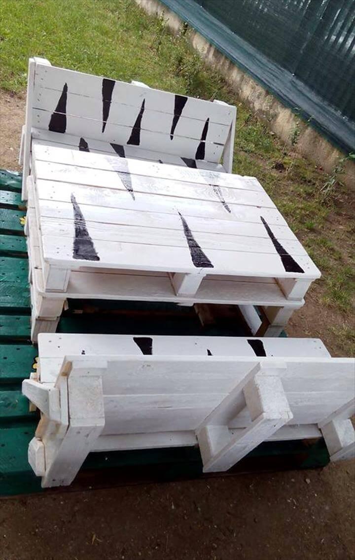 diy pallet bench seat set