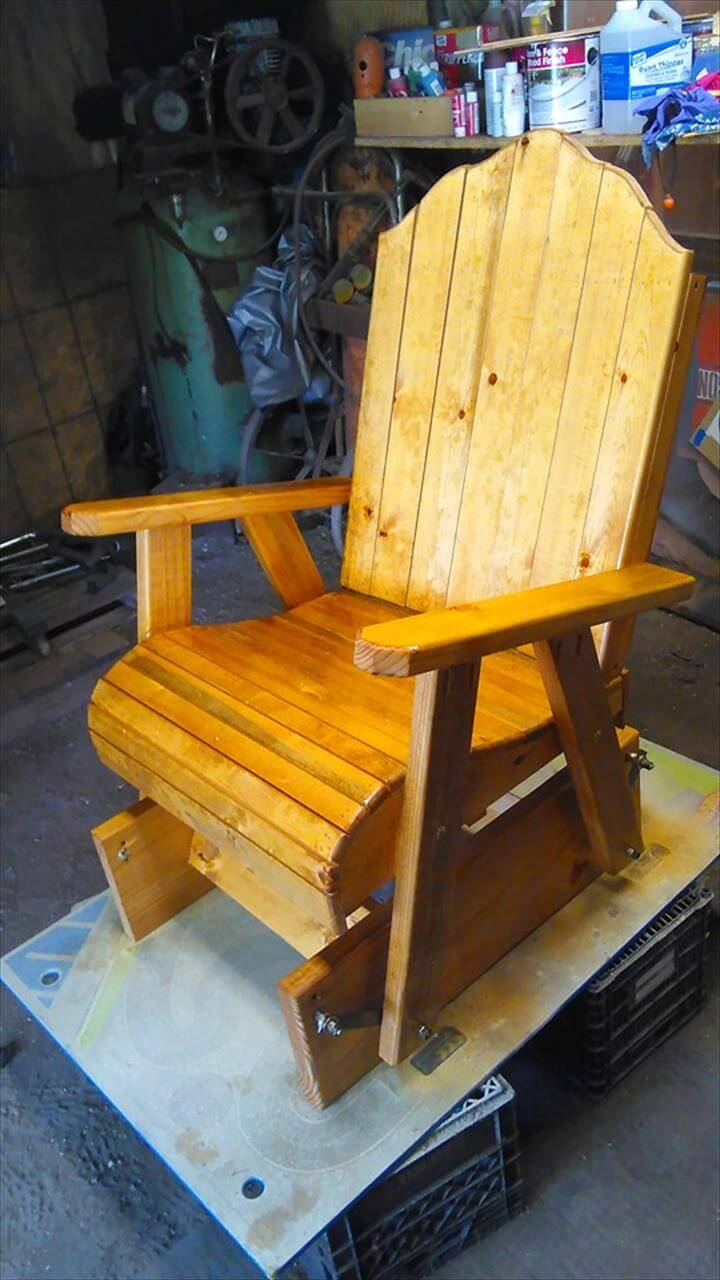diy pallet glider chair