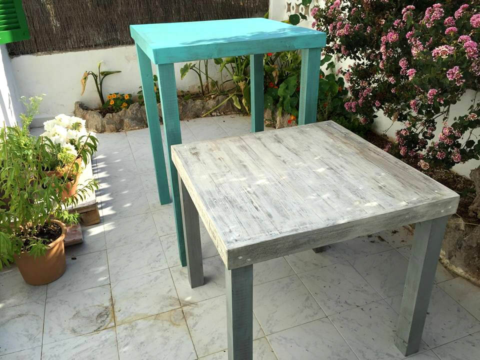rustic pallet mini tables or stands