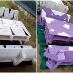 DIY Pallet Bench seat Set for Kids