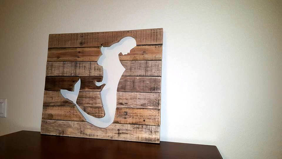 Diy Pallet Mermaid Wall Art 101 Pallets