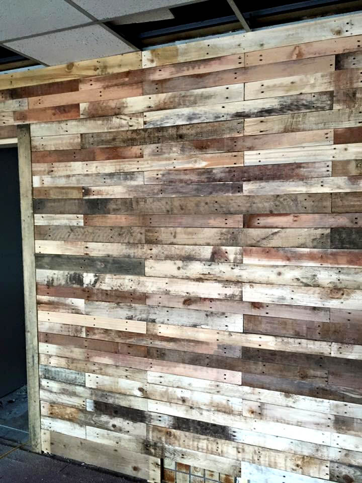 handcrafted wooden pallet rustic wall