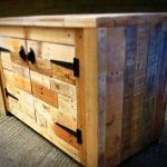 Rustic Pallet Sideboard from Different Colors of Wood