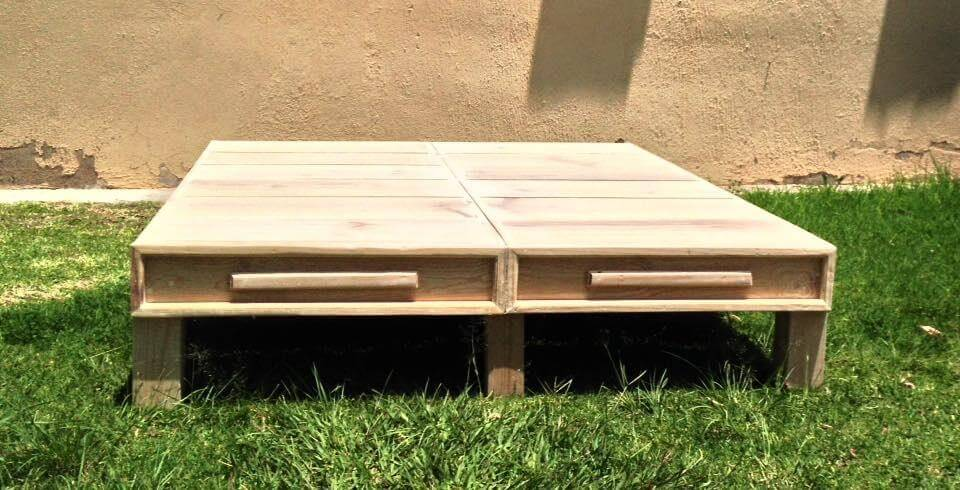 The pallet bed have been build single without the head and foot board ...