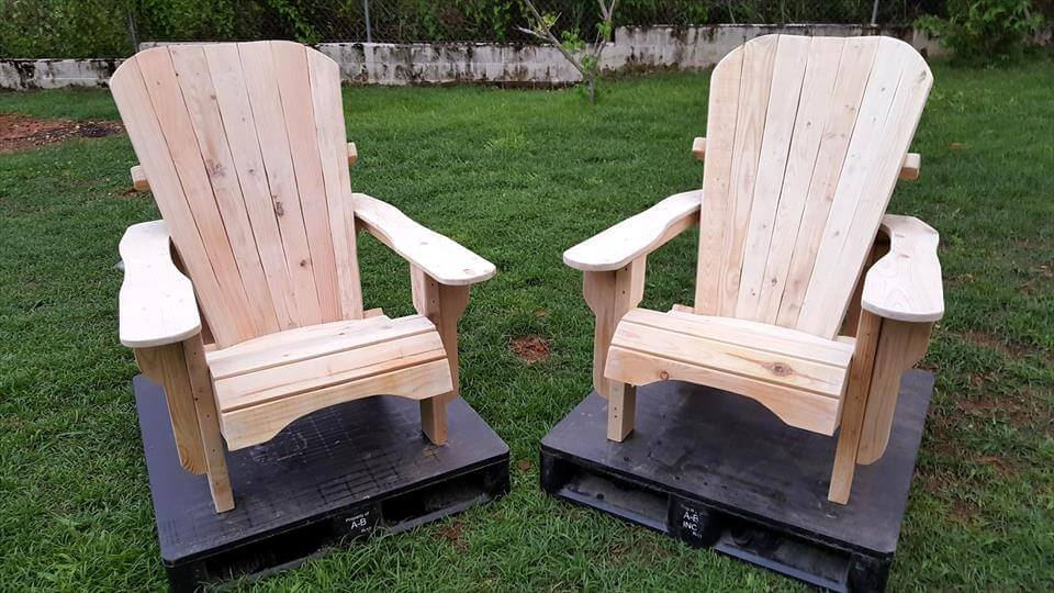 Pallet build Adirondack chairs