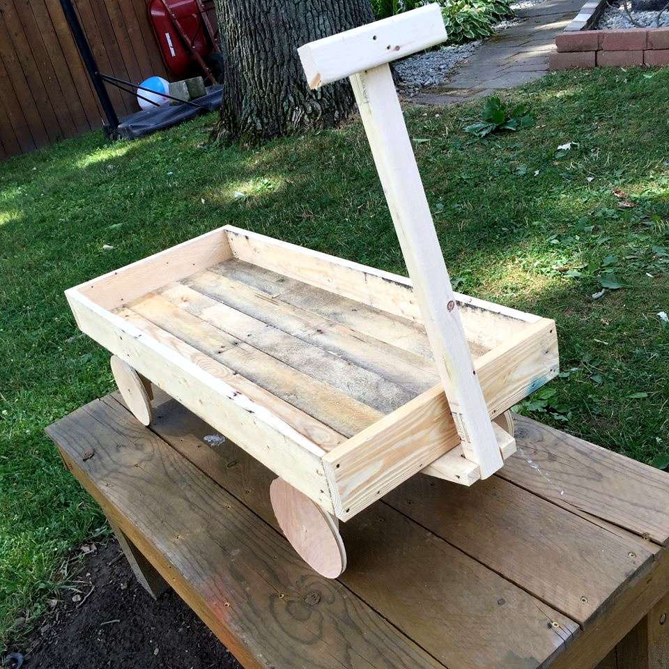 pallet wood wagon for kids 101 pallets. Black Bedroom Furniture Sets. Home Design Ideas