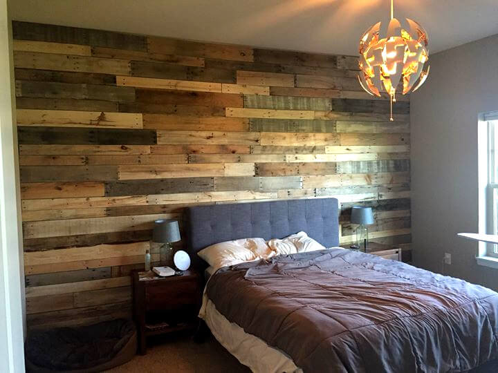 rustic wooden pallet background wall