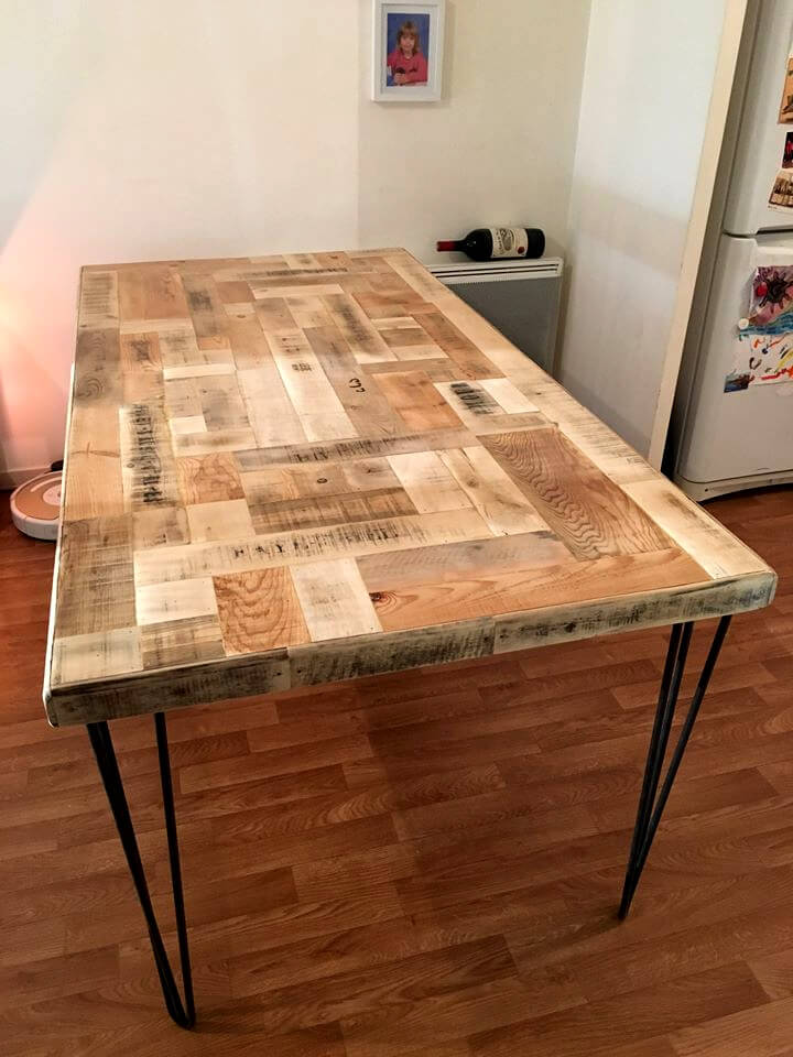 custom wooden pallet dining table