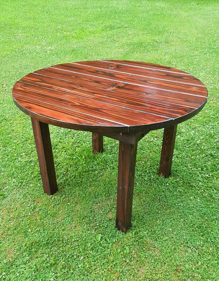 round top pallet dining table for garden 101 pallets