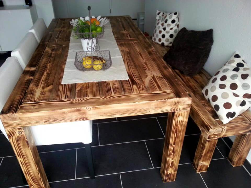 reclaimed pallet dining set
