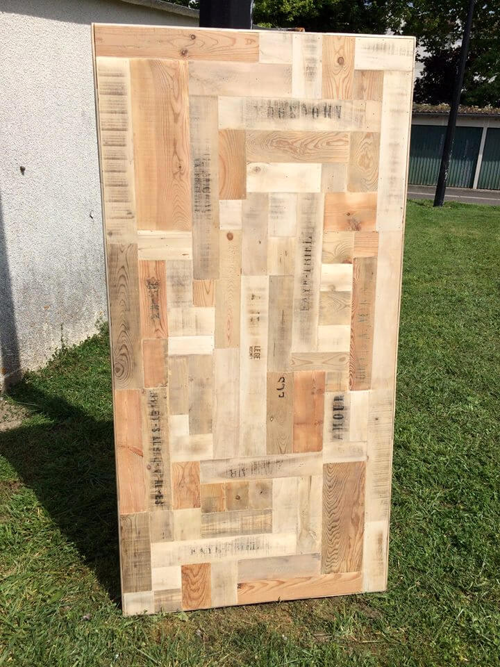 pallet and crate wood dining table