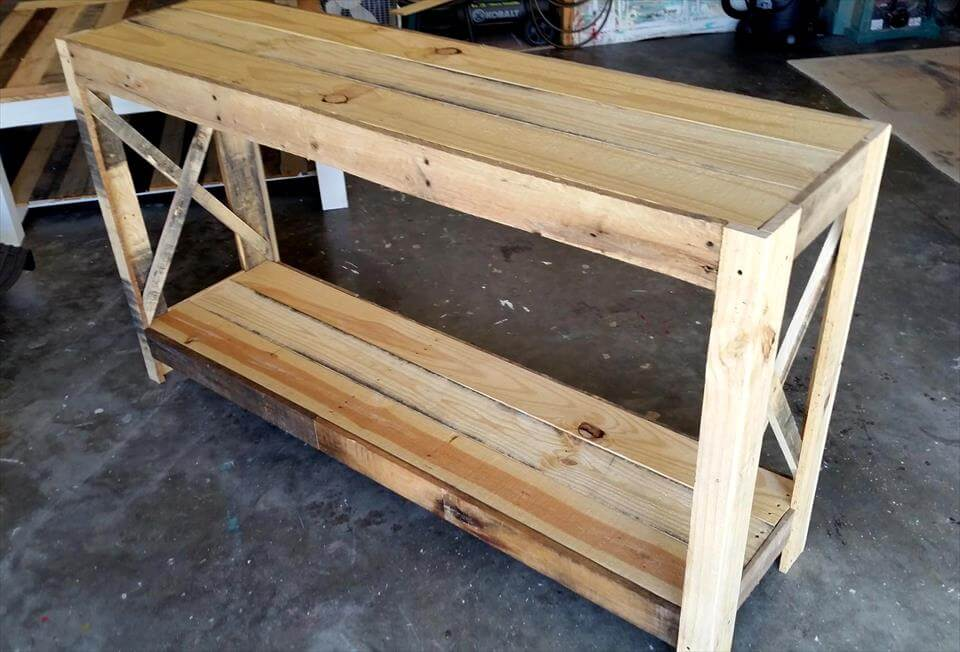 Foyer Table From Pallets : Wood pallet entryway table diy pallets