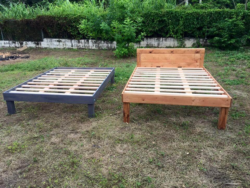 rustic style bed frames