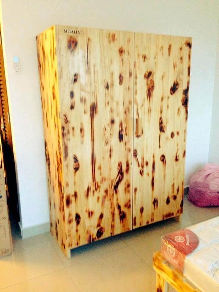 rustic pallet cupboard