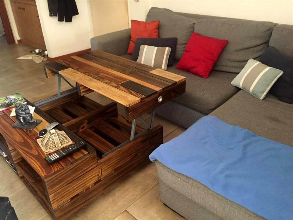 Diy Gl Top Coffee Table Easy Craft Ideas