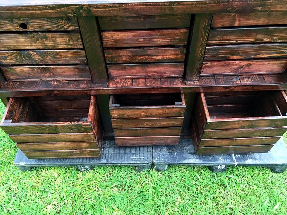 Diy pallet wood and crate dresser 101 pallets for What can you make out of wooden pallets