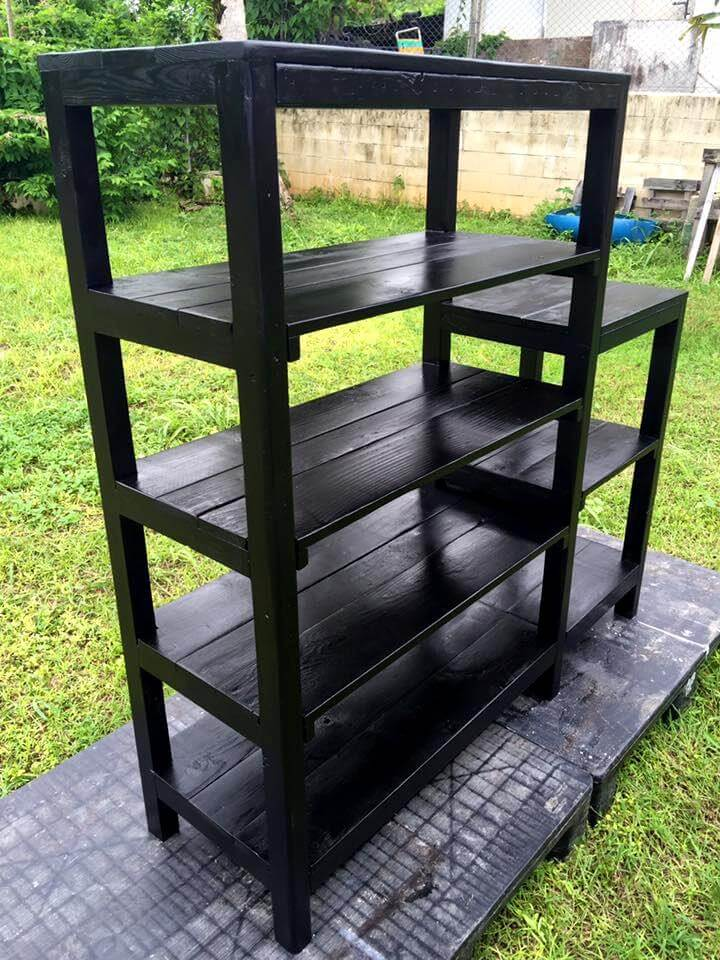 Recycled pallet shelf unit