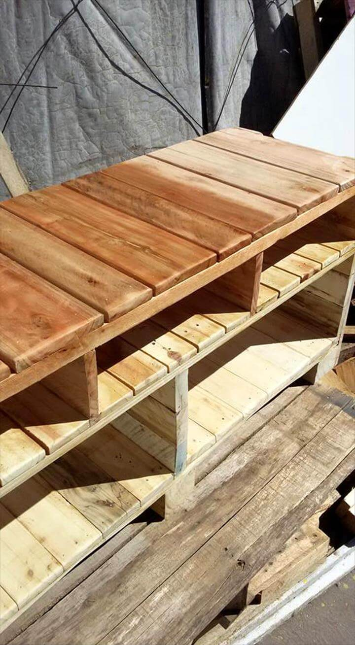 Media Console Made Of Pallets