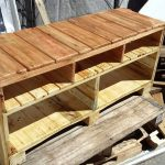 DIY Solid Pallet Media Console or TV Stand