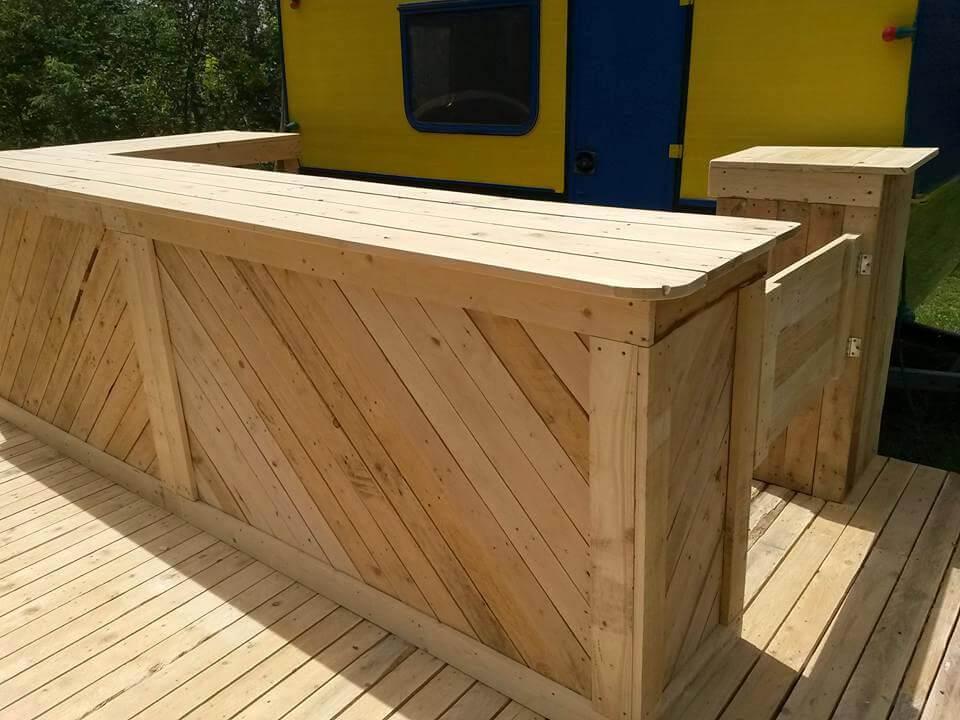diy pallet bar. diy pallet bar DIY Pallet Bar and Terrace Project  101 Pallets