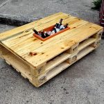 Pallet Coffee Table with Ice Box