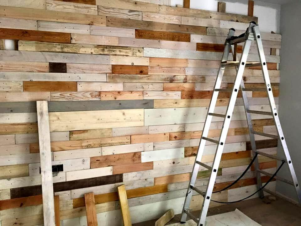 Awesome pallet wall paneling