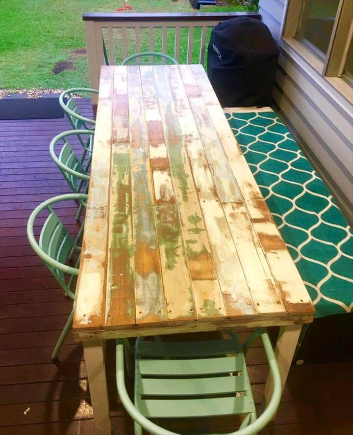 long pallet dining table