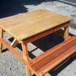 DIY Upcycled Wood Pallet Picnic Table