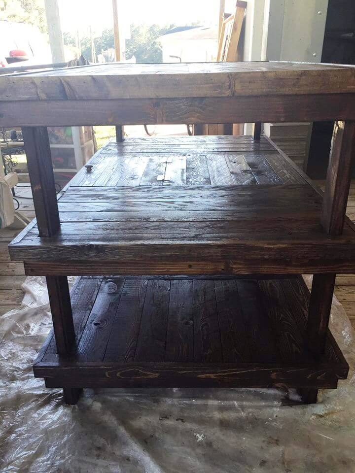 recycled pallet sewing work table