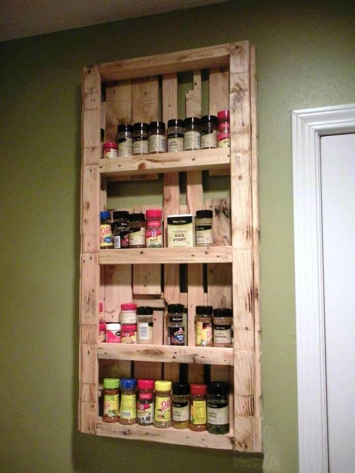 diy pallet large spice rack