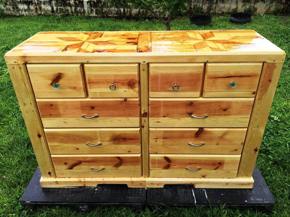 how to make a chest of drawers from pallets