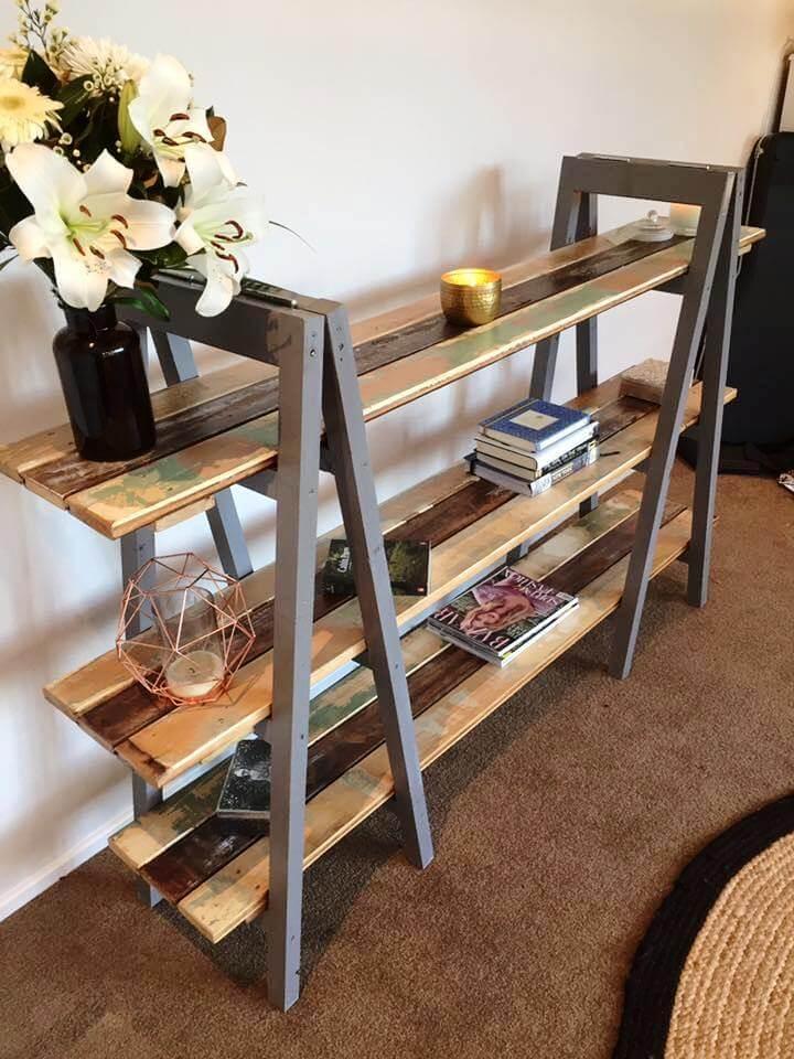 custom-built art style pallet decorative console