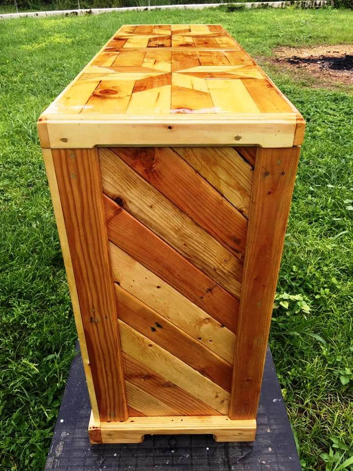 diy wooden pallet chest of drawers